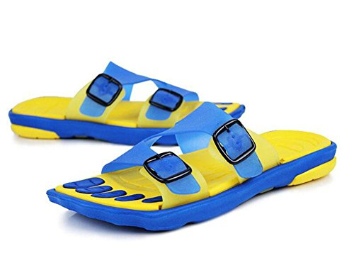 GLTER Herren Open Toe Sandalen Breathable Slippers Casual Beach Schuhe Slip On Flip Flops Yellow