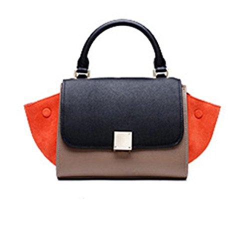 Sommer-Damen-Kettenpaket Koreanische Version Der Schulter-Beutel-weiblichen Paket-Minibagger-Beutel BlackAndGrayOrange