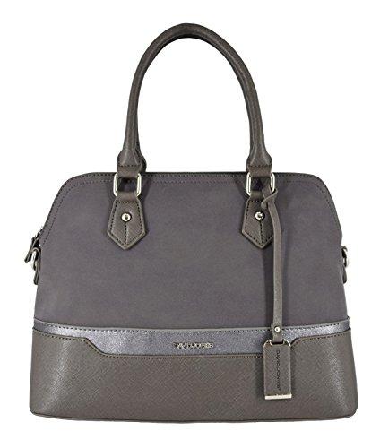 David Jones - Women top-handle bag - Bugatti handbag - Mix of nubuck paillette and saffiano imitation leather - Lady bag Grigio