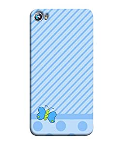 PrintVisa Brushed Footed Butterfly 3D Hard Polycarbonate Designer Back Case Cover for Micromax Canvas Fire 4 A107