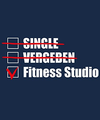 -- Single, Vergeben, Fitness Studio! -- Boys T-Shirt Navy