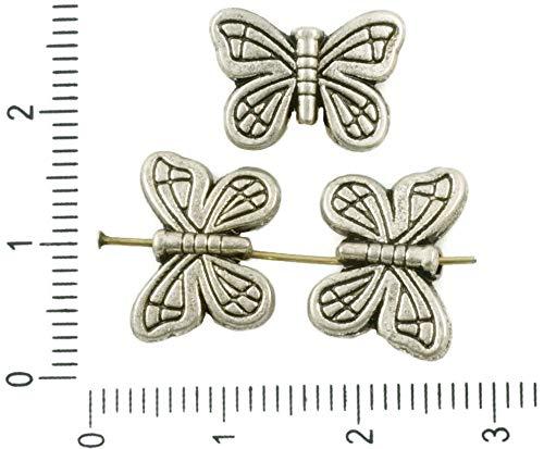 8pcs Antikes Silber Ton Flach Gefüttert Schmetterling, Tier Perlen Charms zweiseitig böhmischen Metall-Ergebnisse 14mm x 10mm