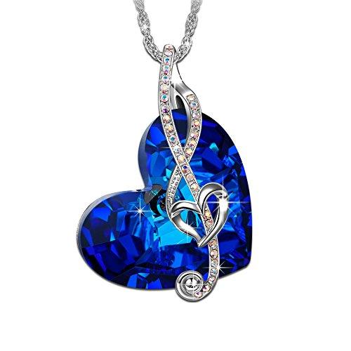 Brilla Herz Anhänger Schmuck 'Walzer der Liebe', Halskette Damen mit Kristall Kristallherz von Swarovski, Geburtstagsgeschenk, Kette Damen (Frisch Schritt Kristalle)