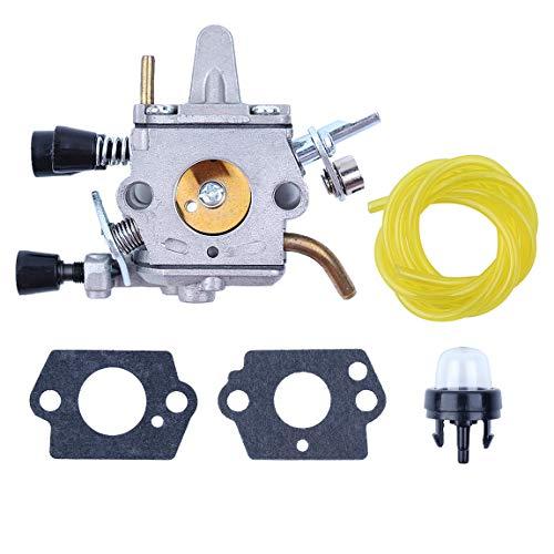 Vergaser Benzinschlauch Zündkerzen Kit für STIHL FS250 FS300 FS350 FS120 FS200 FS020 FS202 Trimmer Weedeater-Freischneider -