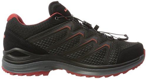 Lowa Maddox GTX Lo, Chaussures de Randonnée Homme Noir (Black/red)