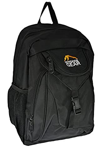 Mens Ladies Outdoor Gear Small Backpack Rucksack Daypack Walking Travel Work (Black Trim (all