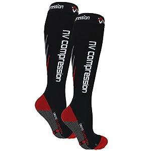 NV Compression 365 Cushion Socks – Black – Compression Sports Socks – for Running, Cycling, Triathlon, Gym 12 spesavip