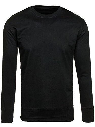 BOLF – Sweat-shirt – Manches longues – U-neck – STREET STAR 7039 – Homme Noir