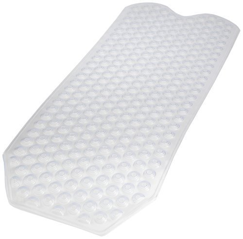 Carnation Home Fashions Jumbo Size Clear Vinyl Bath Tub Mat by Carnation Home Fashions