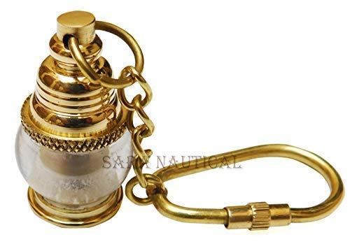Nautische Messing Laterne Schlüsselanhänger Sammlerstück Schlüsselring Vintage Artikel Geschenk (Messing Laterne Nautische)