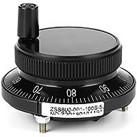 Control manual del router del molino del codificador del pulso de la rueda de mano para el sistema del CNC, 5V 60MM(negro)