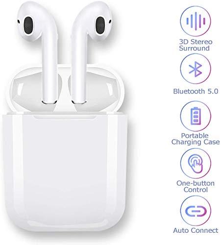 Auricolari Bluetooth,Cuffie Bluetooth 5.0 Auricolari Wireless Stereo Senza Fili Sportivi in Ear con...