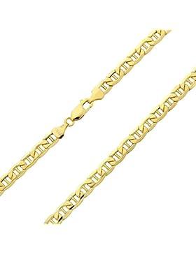 18 Karat / 750 Gold Italienisch Flach Mariner Gelbgold Kette Unisex - Breite 3 mm - Länge wählbar