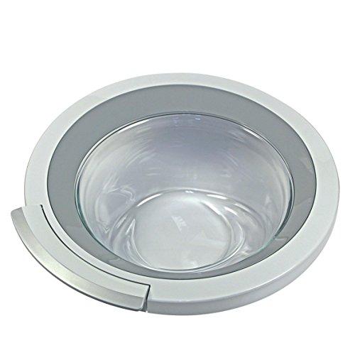 Tür komplett Ring Bullauge weiß silber Glas Kunststoff Waschmaschine Frontlader Original Bosch Siemens 00704286 passend Balay VarioPerfect EcoSilence ts84 was30 was32 was28 cm12 cm10 wm12 wm14 wm16 wm (Reiniger Frontlader-waschmaschine)