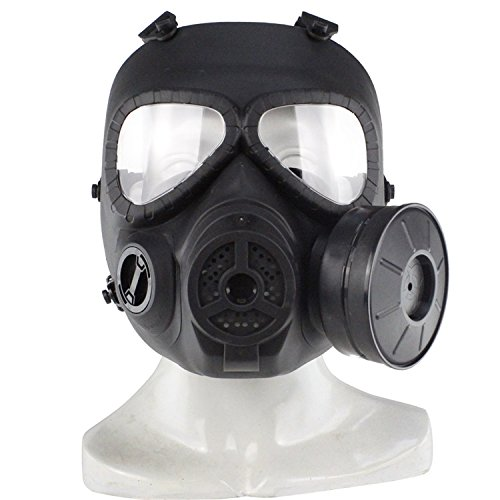 HaoYK, finta maschera antigas M04, con ventilatore Turbo, attrezzo di protezione per airsoft e paintball, Black