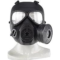 haoYk táctico Dummy anti niebla máscara de gas M04 con Turbo ventilador Airsoft paintbal protección Gear (Negro)