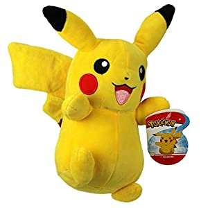 Pokèmon 95211 Pikachu de Peluche de 8 Pulgadas, Color Amarillo