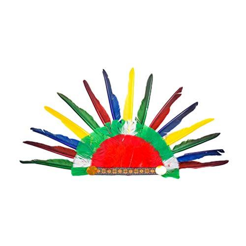 Indische Kostüm Stück Zwei - Amosfun 2 STÜCKE Indischer Kopfschmuck Hut Halloween Kostüm Zubehör Indische Kappe Kopfbedeckung Kostüm Party Favors Supplies