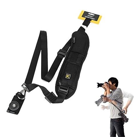 Japace® Mode rapide Rapid Simple épaule Sling Harnais Courroie Epaules Ceinture sangle Bandoulière Appareil photo Pour appareils photo reflex DSLR Canon Nikon Sony