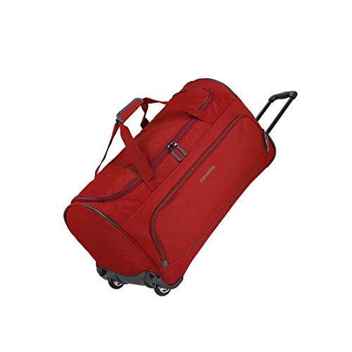 Travelite Basics Trolley Reisetasche FRESH auf Rollen 70cm, in sechs Farben Reise-Henkeltasche, 71 cm, 89 Liter, Rot