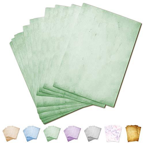 Partycards Papel de Escribir | 50 Hojas |Verde|Formato DIN A4 (21,0 x 29,7 cm)|Gramaje 90 g/m² |impresión a Doble Cara, Adecuada para Todas Las impresoras