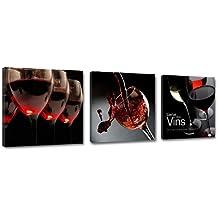 150 x 50 cm Bild auf Leinwand Wein 4203-SCT deutsche Marke und Lager - Die Bilder / das Wandbild / der Kunstdruck ist fertig gerahmt