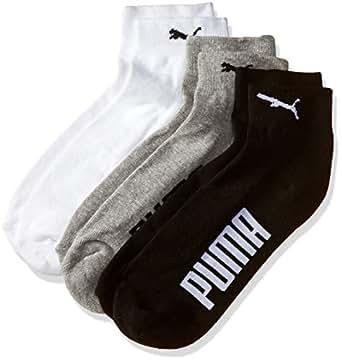 PUMA Men's Athletic Socks (IN91094701_White/ Black/ Grey_37/40)