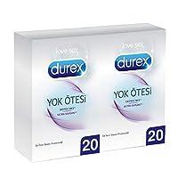 Durex Yok Ötesi Ultra Kaygan Prezervatif, 40'lı Ekonomik Paket 1 Paket (1 x 40 Adet)