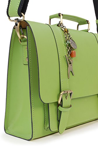 Sac de travail Sacocheen cuir signé Catwalk Collection - Canterbury Vert