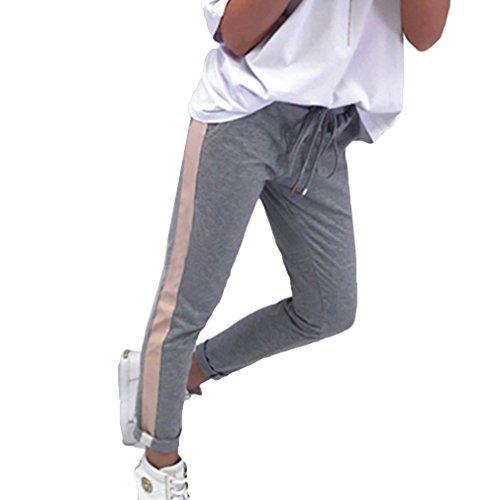 96ad427123 Yying Pantalones Lápiz para Las Mujeres del Estiramiento Elástico con  Cordón De Cintura Alta Vaqueros Ajustados