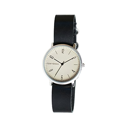 tokyobay-t333-bk-mens-stainless-steel-black-leather-band-white-dial-smart-watch