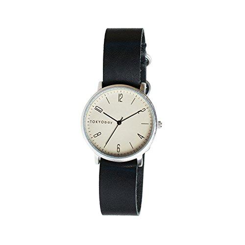 tokyobay-t333-bk-da-uomo-in-acciaio-inox-nero-cinturino-in-pelle-quadrante-bianco-smart-watch