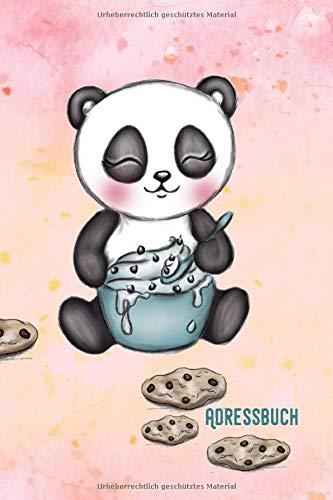 Adressbuch: Panda - Adressbuch / Telefonbuch: Alle Kontakte auf einem Blick - 120 Seiten alphabetisch geordnet
