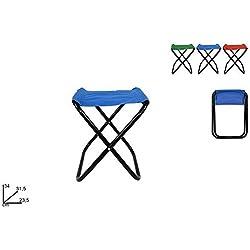 Vetrineinrete® Sgabello pieghevole per pesca campeggio mare sedia portatile 34 cm vari colori P4