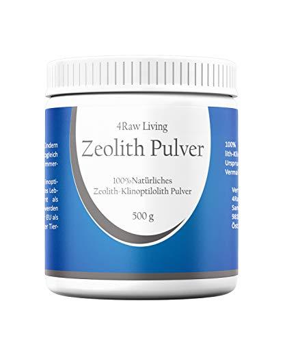 4RawLiving Zeolith Klinoptilolith Pulver | Bio Informiert | Aktiviert Ohne Zusätze Detox 500g...