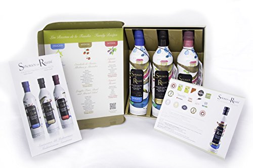 Extra Virgin Olive Oil, 3 Bottles in Beautiful Gift Packaging, Intense, Medium and Delicate Coupage, Señoríos de Relleu (Familia, 1.5L) ...