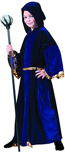 Confettery - Jungen Karneval/Halloween Merlin Zauberer Kostüm-Set, komplett Kostüm Magier, 158-164, 13-14 Jahre, Violett