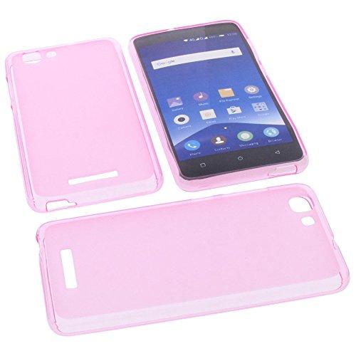 Tasche für Mobistel Cynus F10 Gummi TPU Schutz Handytasche pink