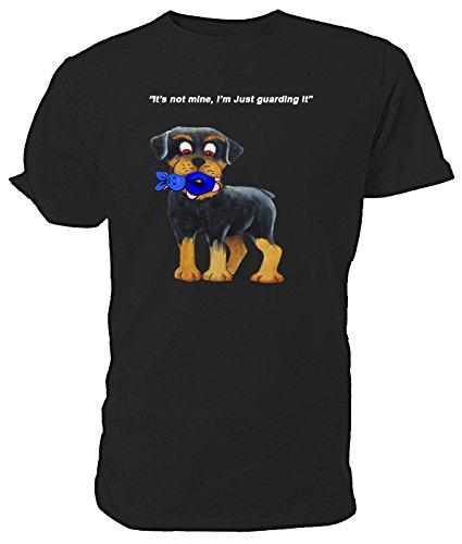 Cartoon Rottweiler Cucciolo T Shirt nero