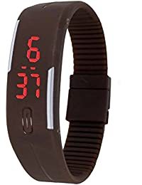 Talgo Presents Brown Color Unisex Silicone Digital LED Band Wrist Watch For Boys, Girls, Men, Women