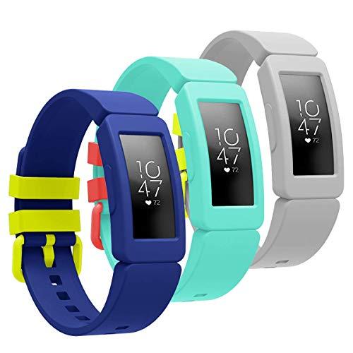 SPGUARD Kompatibel mit Fitbit Ace 2 Armband für Kinder 4+, Weiches Silikon Ersatz Armband Zubehör für Fitbit Ace 2 Fitness Tracker
