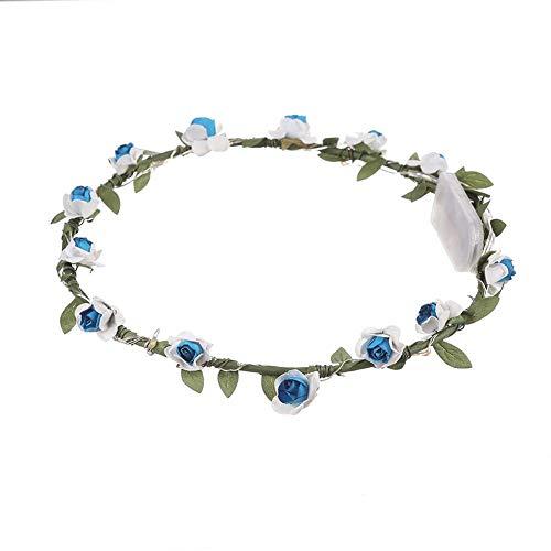 LED Haarband, Kinder Prinzessin Geburtstag LED Blumenstirnband, Mädchen Kranz Rose Blumenstirnband leuchtende Girlande Hochzeit liefert