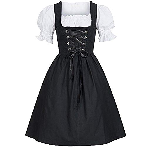 35 Einzigartige Kostüm - LILIGOD Oktoberfest Kostüm für Damen Bayerisches Biermädchen Tavern Maid Dress Vintage Gothic Gericht Kleid Lolita Kleid Festliches Party Cocktailkleid Halloween Cosplay Kostüm