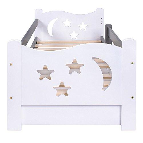 KAGU Chrisi Kinderbett Jugendbett Juniorbett Bett (140x70 cm oder 160x80 cm). Kiefernholz Massivholz inkl. Matratze und Schublade. - 3