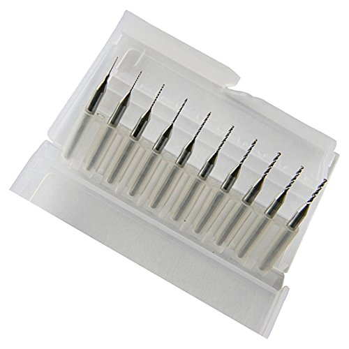 Drill Bits – TOOGOO(R) Pack of 10 Carbide Micro Drill Bits CNC PCB Dremel (0.3-1.2mm)