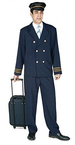 Imagen de disfraz de piloto de avión para adultos