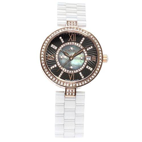 Stella Maris Women's Wrist Watch - Analog Quartz - Premium Ceramic Strap - Mother-of-pearl Dial - Diamonds and Swarovski Elements - STM15SM3