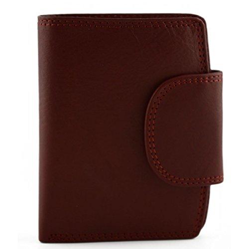Portafoglio In Pelle Vera Per Uomo Colore Rosso - Pelletteria Toscana Made In Italy - Accessori
