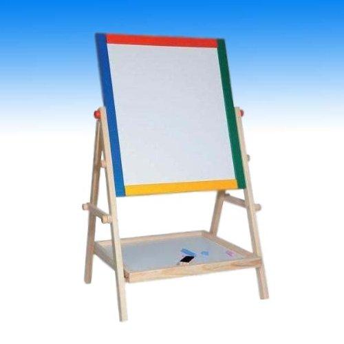 Kindertafel, Tafel, Schreibtafel, Kreidetafel, Maltafel, Standtafel zum Schreiben und Malen aus Holz - 2in1 - Maße der Malfläche (BxH): ca. 30 x 35cm - Höhe der Tafel: ca. 65cm
