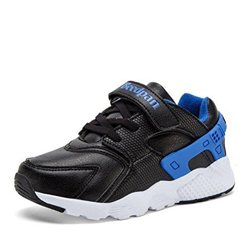 Sportliche Jungen Flache Mesh Weiche Schnellverschluss Schnürsenkel Modische Sommer Bequeme Turnschuhe Sneakers Blau